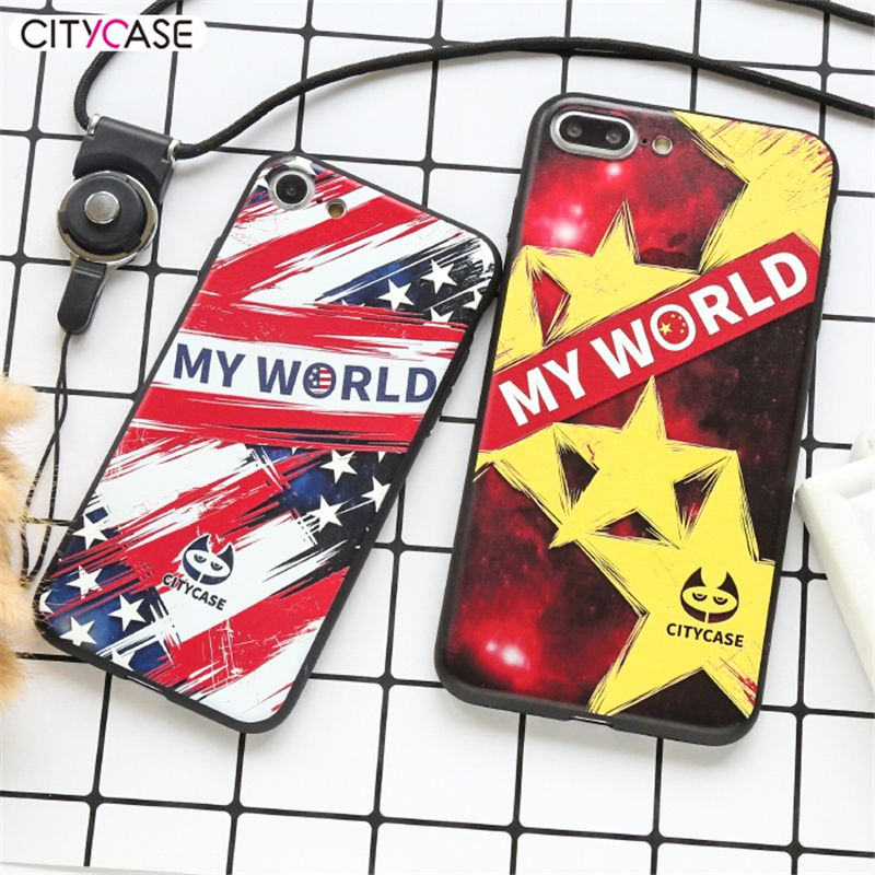 CITY&CASE For IPhone 7 Case Cool American USA British Germany Flag Printed Soft Back Shell Cover For IPhone 6 6s Plus 7Plus