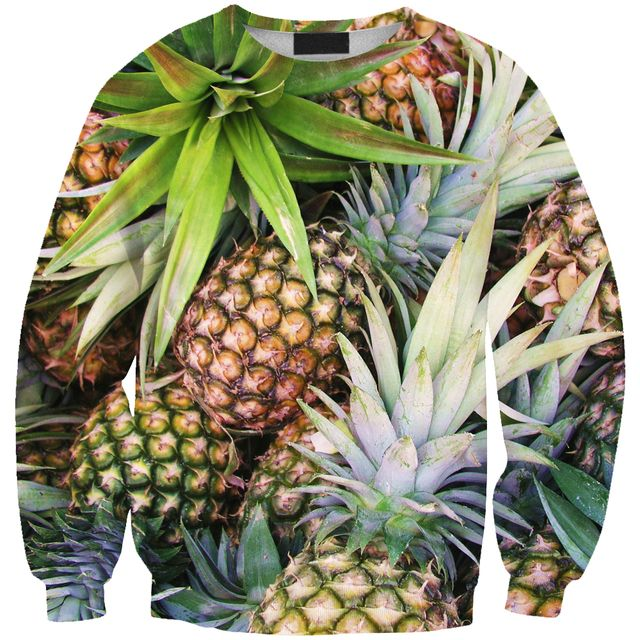 NEW Fashion fruit pineapple prints 0391  free size women girl casual Collar loose Hoodies fit spring and autumn