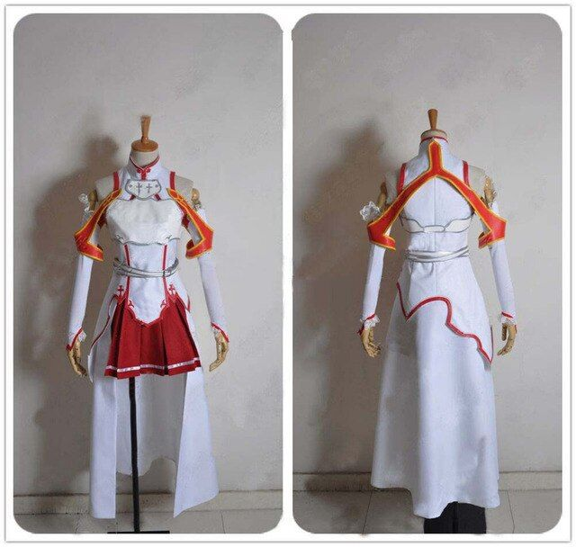 Anime Sword Art Online Asuna Yuuki  Cosplay  Costume  for woman