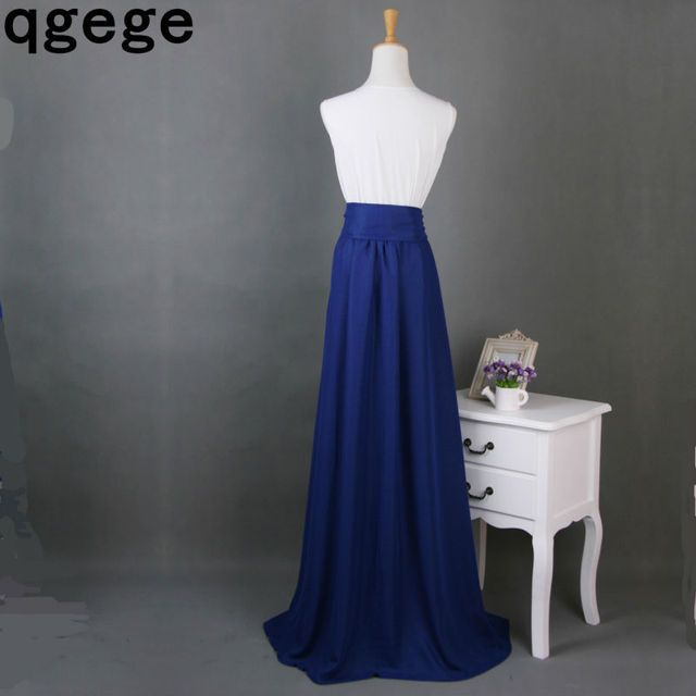 2015  Maxi Skirt Chiffon Split Front Over Mopping The Floor  only skirt no top
