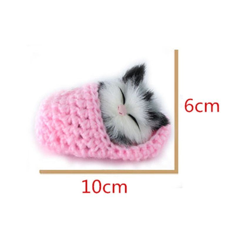 Super Cute Simulation Sounding Shoe Kittens Cats Plush Toys Kids Appease Doll Christmas Birthday Gifts