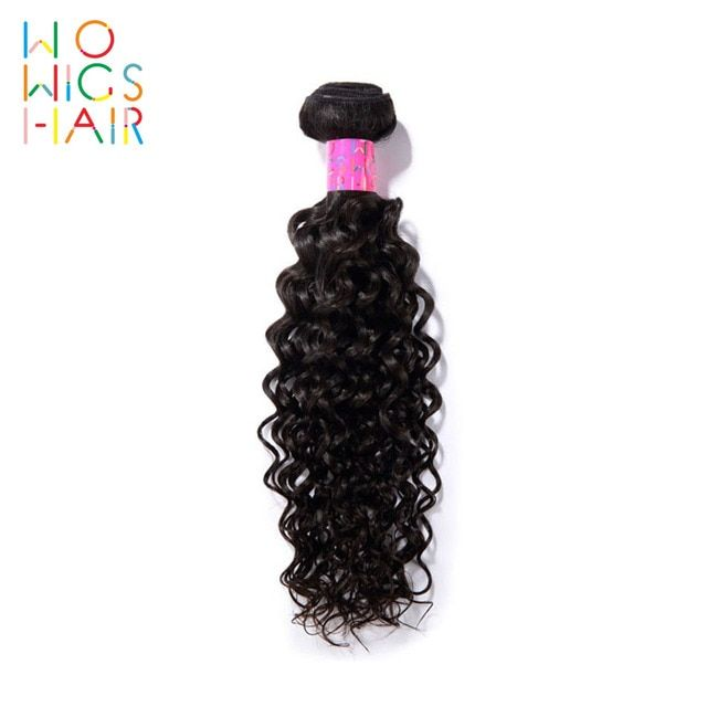 WoWigs Hair Malaysian Curly Virgin Hair 100% Human Hair Weaving Natural Color Free Shipping