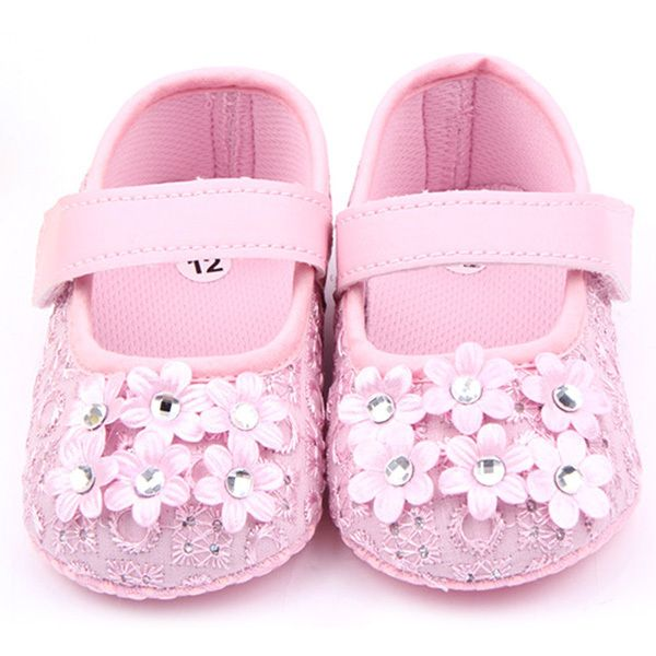 Flower Infant Baby Girl Shoes Soft Sole Non-slip Baby Shoes First Walker