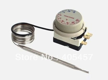 -15 to +25 Degree Celsius Capillary Dial Thermostat 3-pin Low-temperature Control Switch Adjustable Temperature Regulator 10PCS