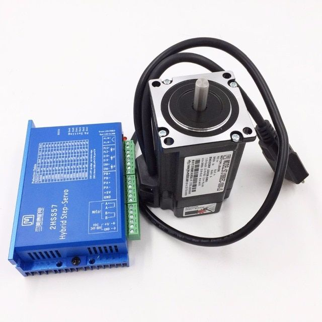 57J1880EC-1000+2HSS57 NEMA23 2.2NM 5A 2 phase 57mm Hybird Closed Loop Stepper Motor+Drive Kit with 1000line Encoder and Cable