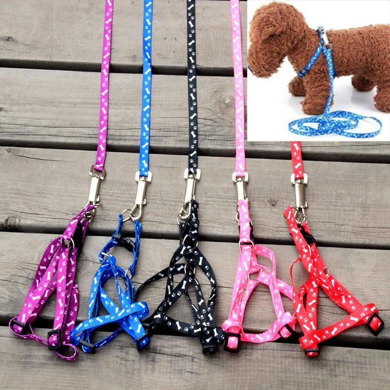 Color Send Randomly 1 x New Nylon Pet Cat Doggie Puppy Leashes Lead Harness Belt Rope For Small Dog Puppy Cat Animals Supplies