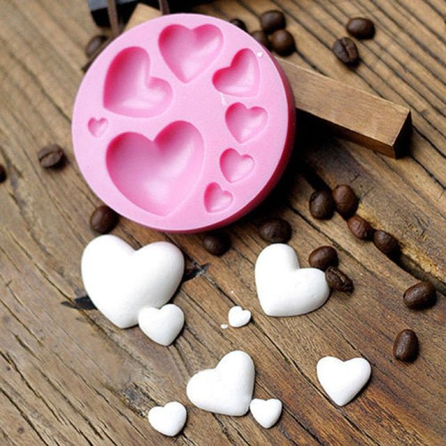 3D DIY Heart Fondant Silicone Cake Making Tool Decorating Craft Sugar Chocolate Cake Tool DJ0567