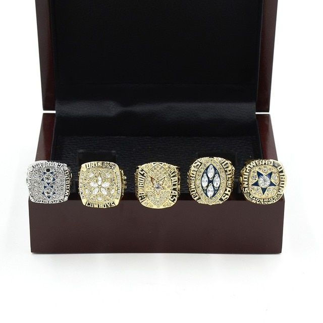 Wooden Boxes 5 PCS Set 1971 1977 1992 1993 1995 DALLAS COWBOYS SUPER BOWL CHAMPIONSHIP RING Super Bowl Championship Ring