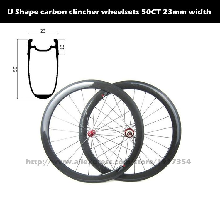 700C Aero Shape 50mm carbon clincher wheelsets Tubeless Ready, High Tg clincher wheelsets for Road bike