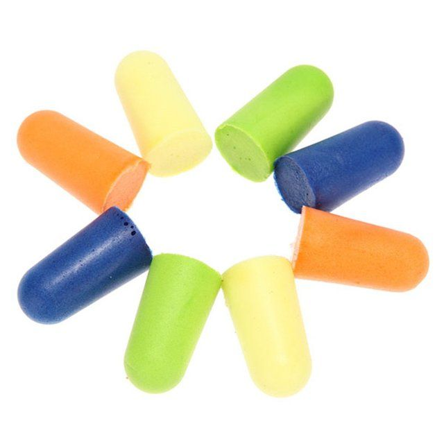 HFES New 30 pairs soft foam earplugs for Anti noise sleep on car plane travel