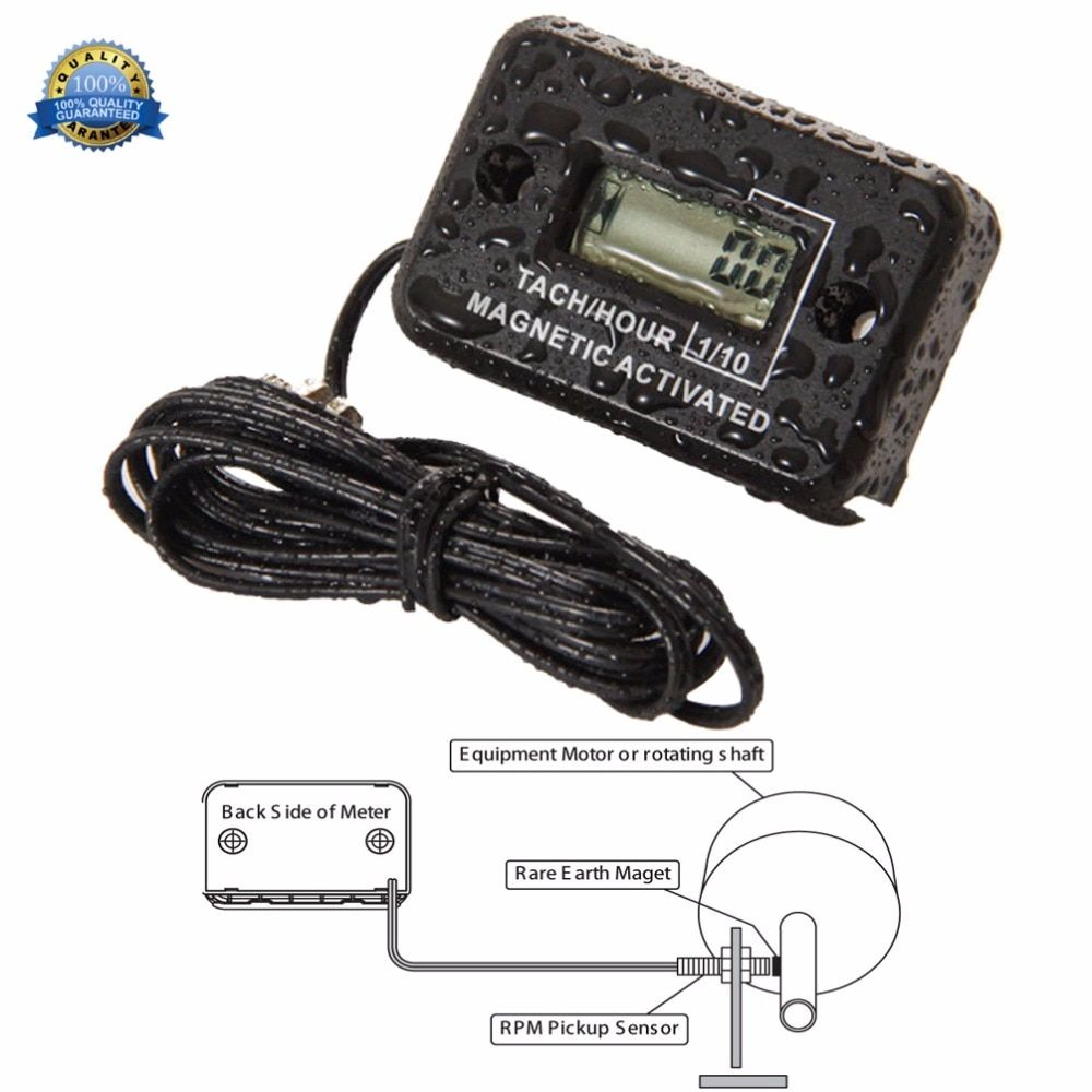 Diesel Engine Digital Hour Meter tachometer for water pump mining machinery drill mixer generator Excavator roller mast crane