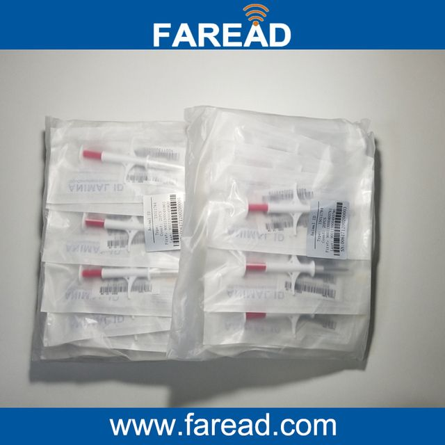 ISO11784/5 FDX-B  Dog ID 134.2Khz Glass tag syringe /Microchip Transponder RFID Animal Tag 1.4 *8mm