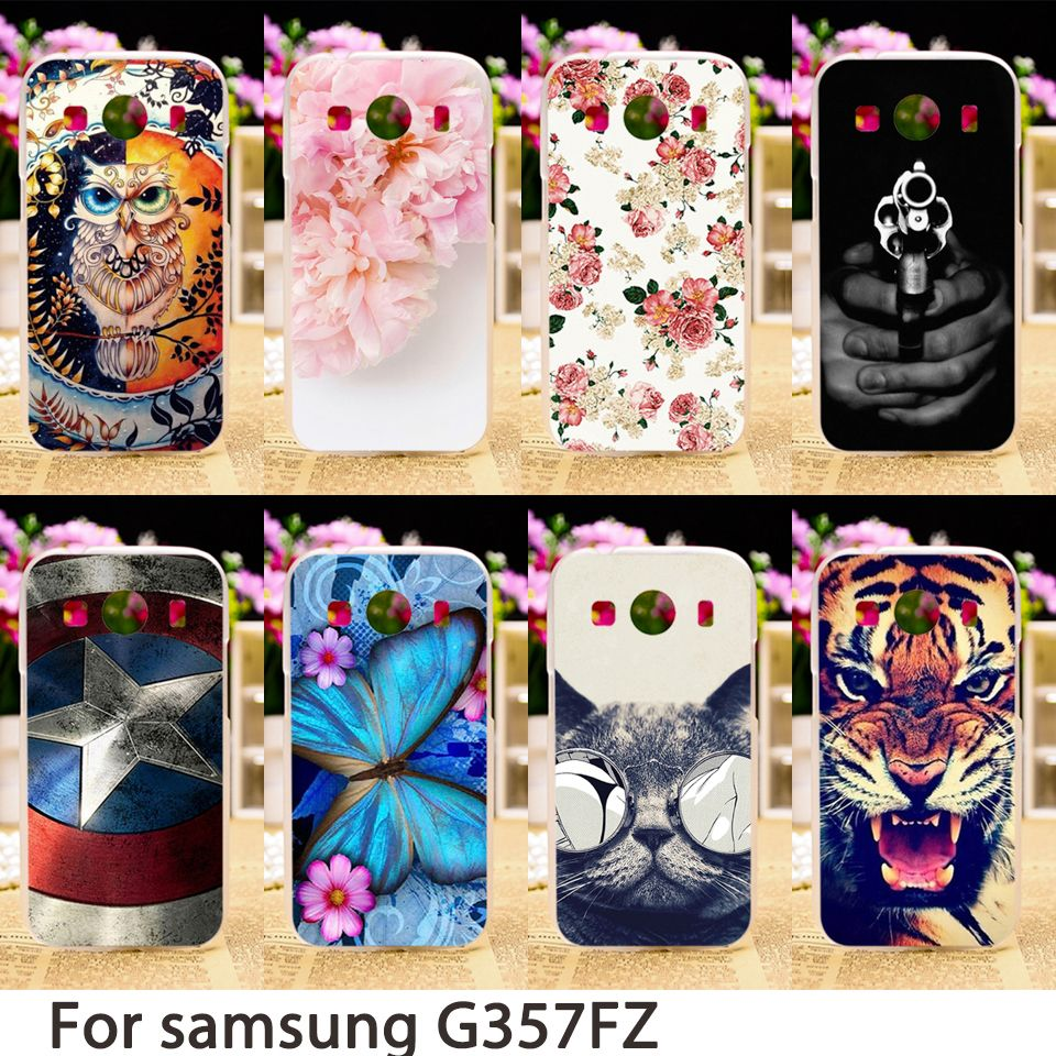 TAOYUNXI Soft Phone Cases For Samsung Galaxy Ace 4 LTE G357FZ Ace 4 Style LTE G357 SM-G357FZ Case Hard Back Cover Skin Bag