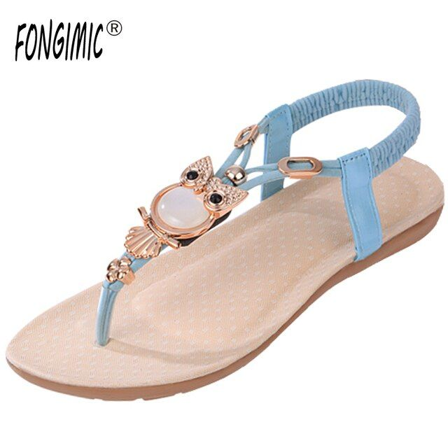 Summer new style beading Bohemia flat comfortable refreshing casual All-Match fashion sandals high quality women seaside sandals