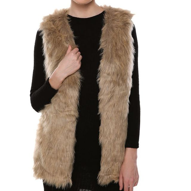 Women Lady Warm Winter Faux Fur Vest Female Warm Waistcoats Outwear Jackets Chalecos De Pelo Mujer Veste Femme Colete Feminino