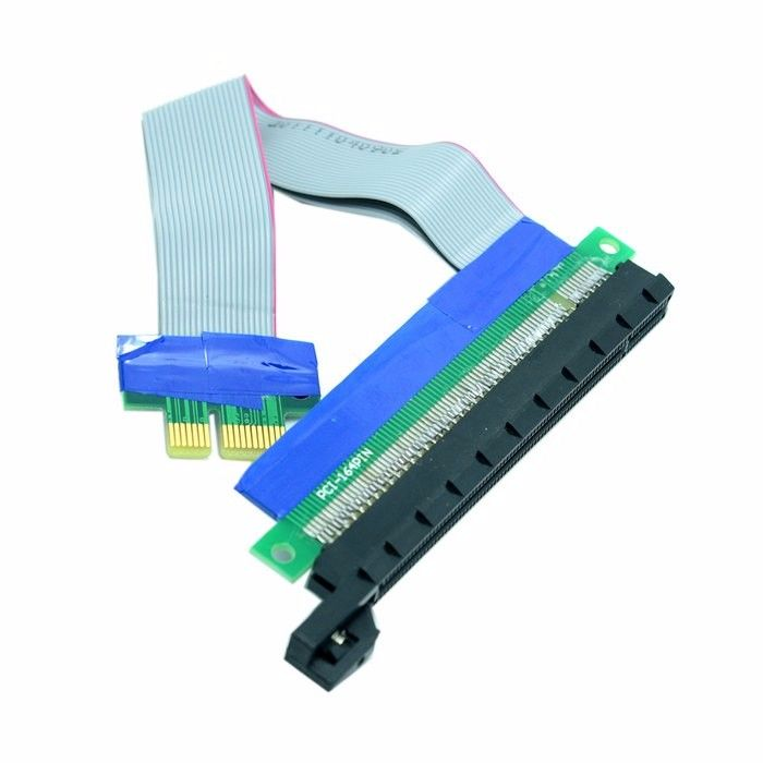 Riser PCI-E pcie PCI-Express PCI Express 1x 16x pci-e pcie x1 x16 Extension Flex Cable Extender Converter Riser Card Adapter