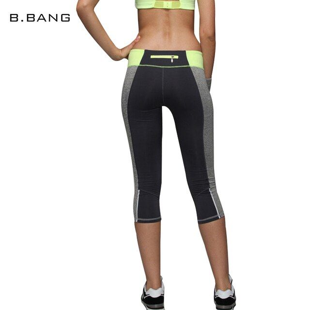 B.BANG 2017 Casual Women Leggings Capris Slim Legging Elastic Patchwork Contrast Color Pants Fashion Calf-length Trousers