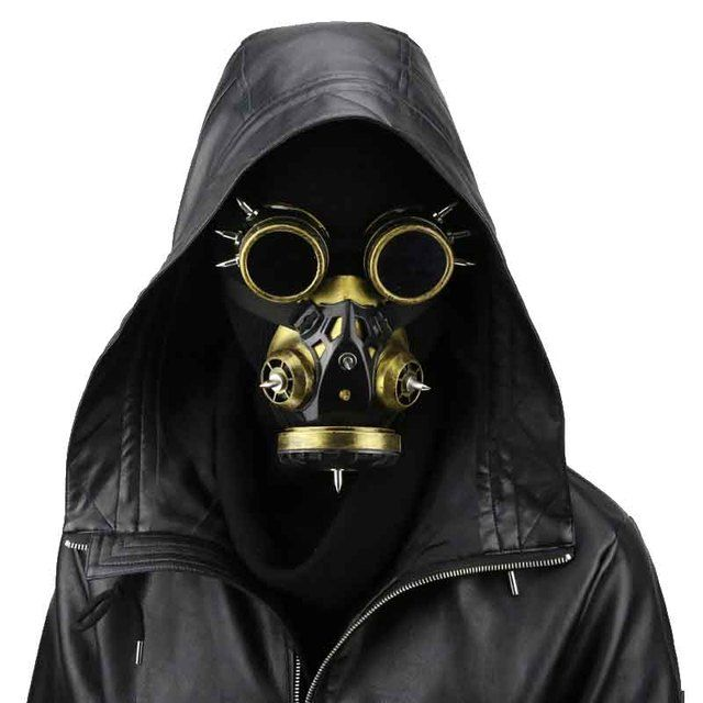 Gold Men / Women Carnival Makeup Party Cosplay Gas Mask Steampunk Anime Halloween Costume Accessories