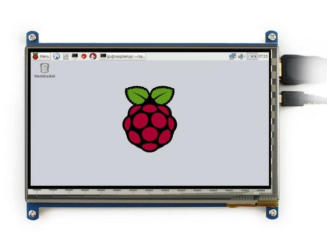 7 inch Raspberry pi 3 touch screen 1024*600 7 inch Capacitive Touch Screen LCD, HDMI interface, supports various system