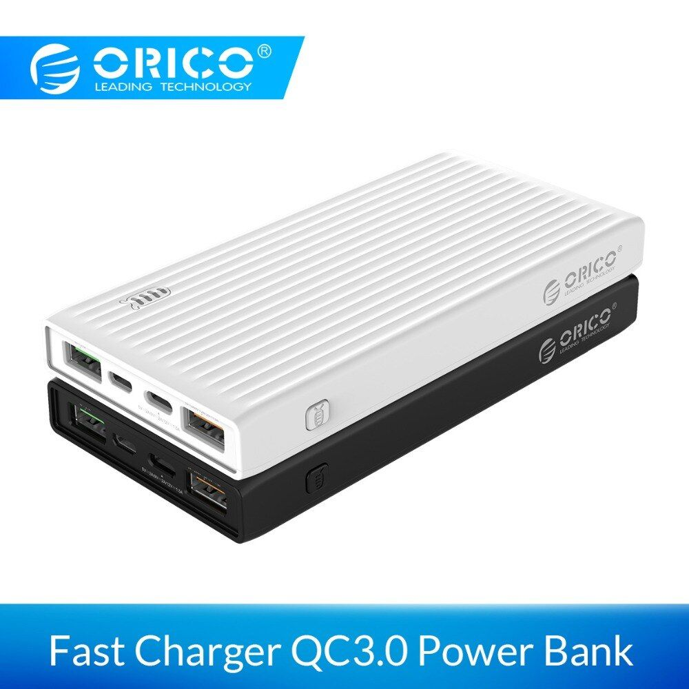 ORICO 10000mAh Universal Power Bank QC3.0 Quick Charge Dual-way Powerbank External Phone Backup Battery Charge For iPhone Xiaomi