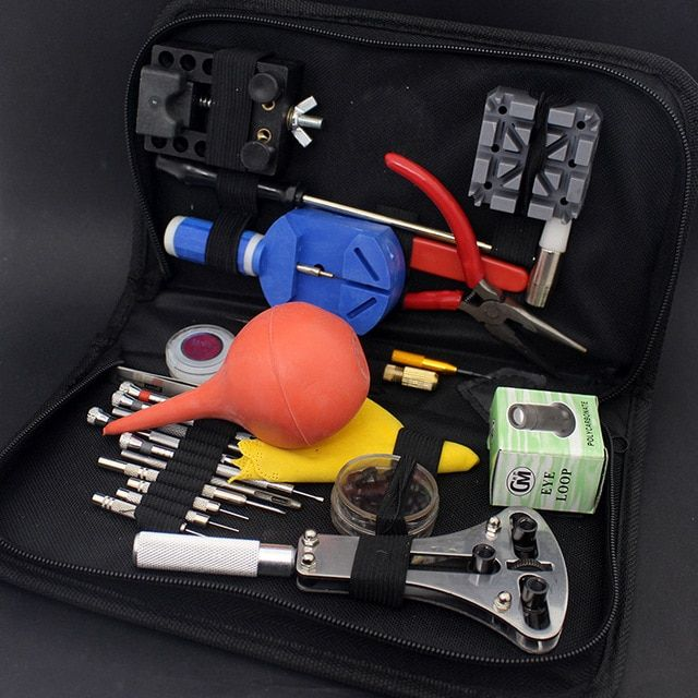 27pcs/Set Wristwatch Repair Tool Watch DIY Kit Screwdrivers Case Opener Hammer Band Link Bar Remover Watchmaker Dedicated Device
