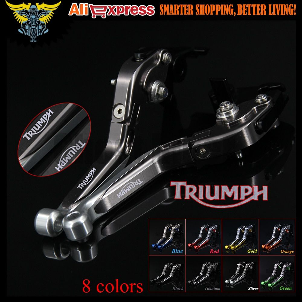 Sliver+Titanium Adjustable Folding Extendable Motorcycle Brake Clutch Levers For Triumph TIGER 800 XC/XCX/XR/XRX 2015 2016 2017