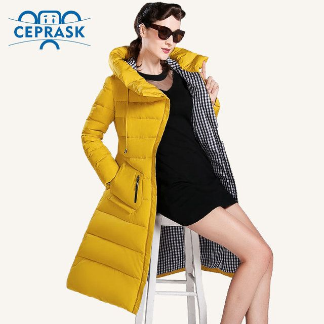 CEPRASK 2018 New Winter Jacket Women Plus Size Long Fashionable Women's Winter Coat  Hooded High Quality Warm Down Jacket Parka