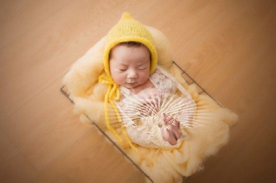 Lovely Newborn Baby Hat Hand-woven Baby Mohair Hollow Out Hat Baby Photography Props Free Shipping
