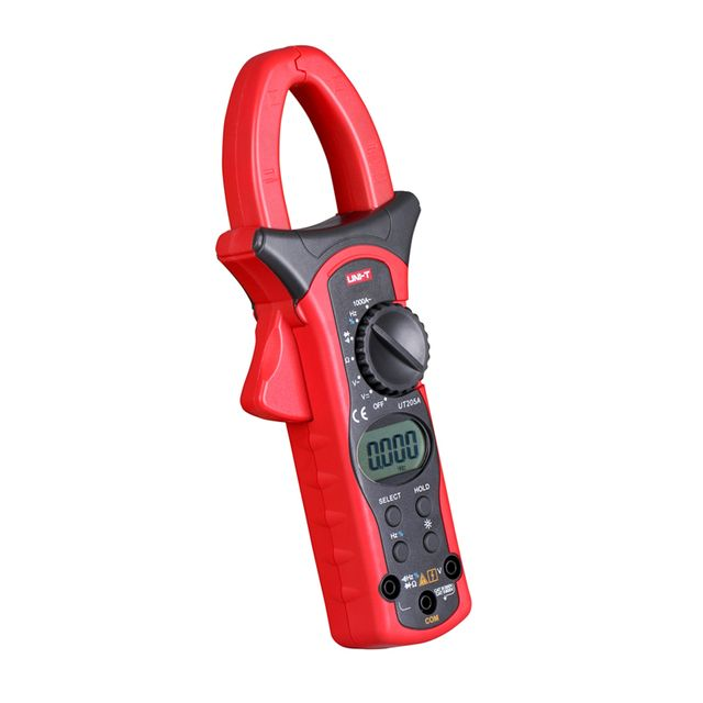 UT205A 3 3/4 Digital Auto Range Digital Clamp Multimeters 1000A 600V Clamp Meter Unit Ammeter Voltmeter with LCD Backlight