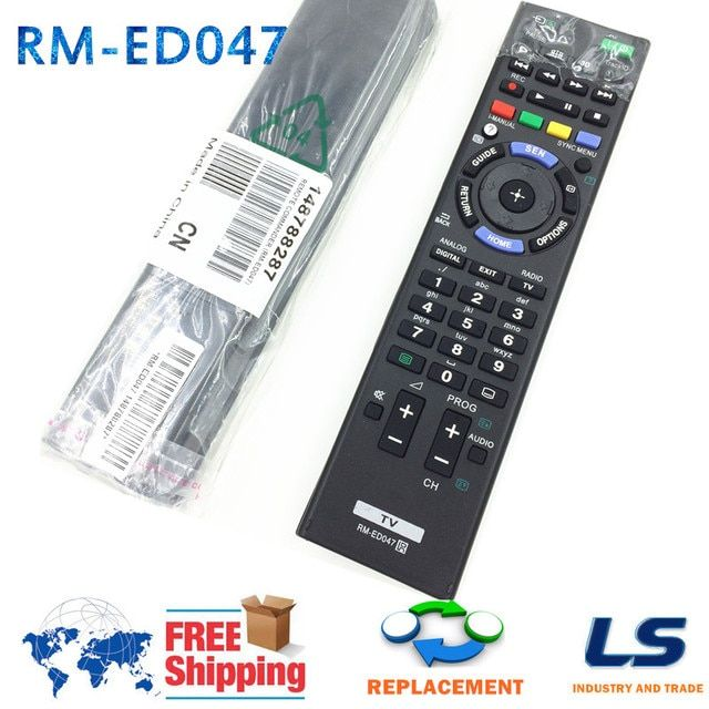RM-ED047 Bravia TV REMOTE CONTROL FIT FOR SONY LCD TV  KDL-40HX750 KDL-46HX850 KDL-40HX758 KDL-40HX757 KDL-55HX753 KDL-46HX759