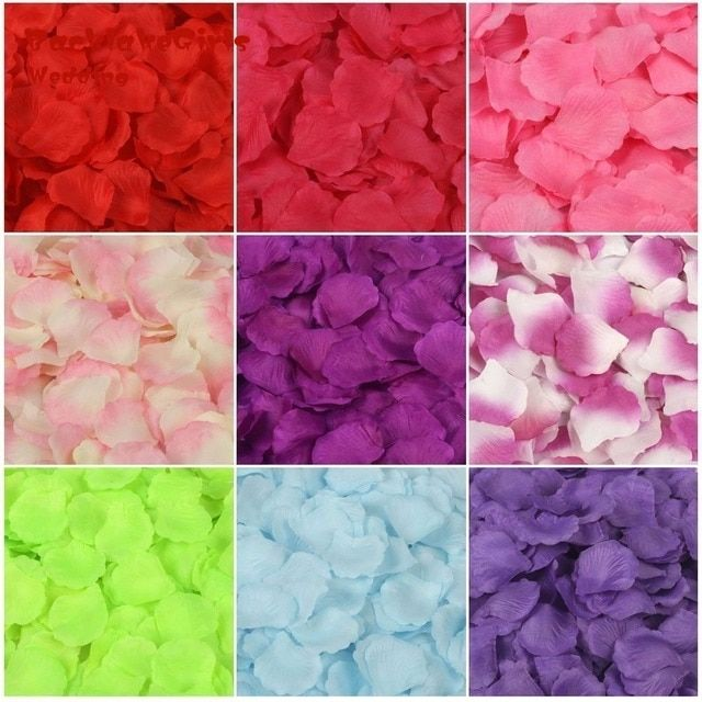 BacklakeGirls  Rose Petals 5000 Artificial Silk Wedding Party Decorations Aisle Runners Girl Tossing Table wedding Flower Petal
