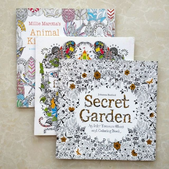coloring books for adults Secret Garden+Animal Kingdom+Enchanted Forest 3pcs/lot libros adultos colorear 18.5x18.5 Painting Book