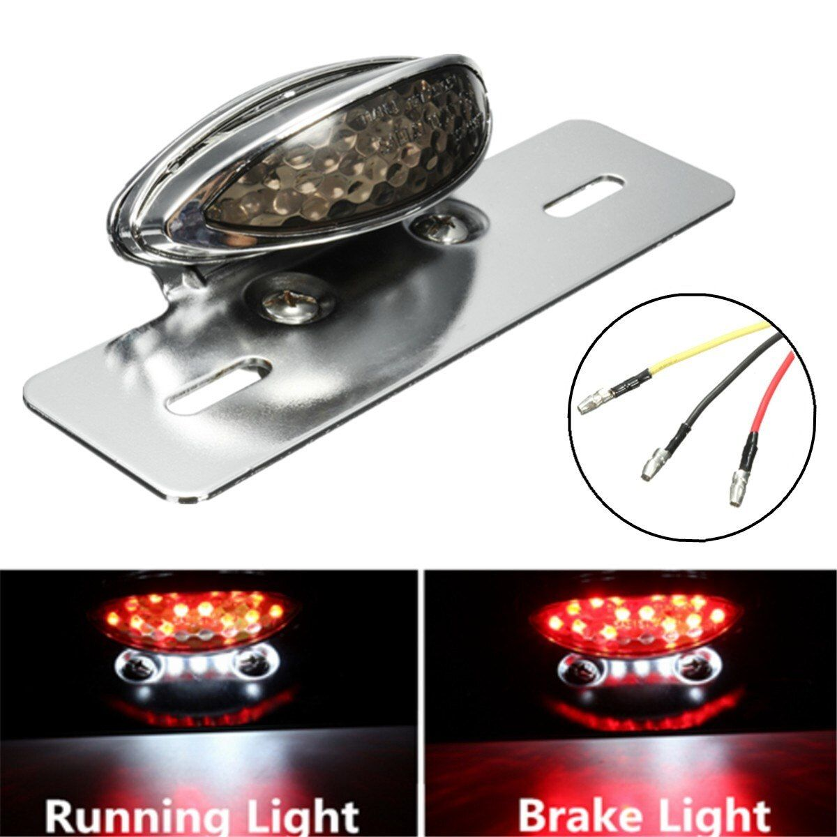 Universal Motorcycle LED Tail Stop Brake Light License Plate Lamp For Harley Bobber Chopper Cafe Racer For Yamaha
