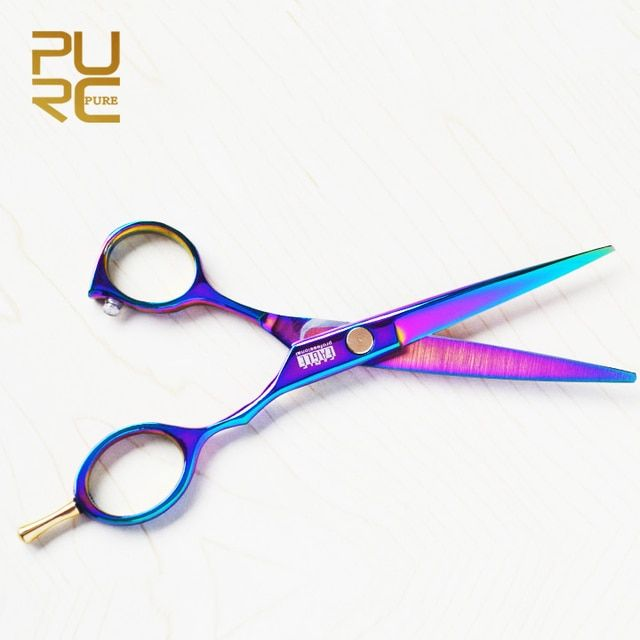 3.29 New arrive Purple titanium 6.0 inch high quality hairdresser shear Free Shipping hair salon product hot sale hair scissors