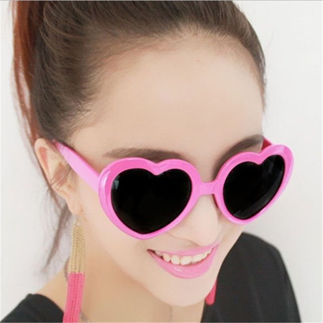 8 Colors Fashion Love Heart Shaped Sunglasses Women Brand Designer Vintage Women's Glasses Sun Glasses Feminine Mirrored Female