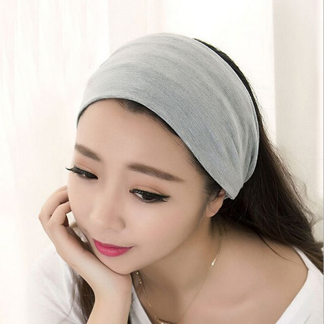 1pc Fashion Women Beauty Sports Lady Wide Wash Fase Elastic Stretch Hair Band Headband Cotton Wide Sports Turban