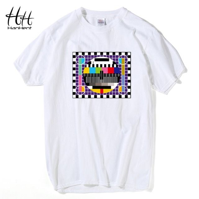 TV Test card Fashion T-shirt Men The Big Bang Theory Short Sleeve Cotton Tee shirts Summer Style Brand New Male T shirts TA0259
