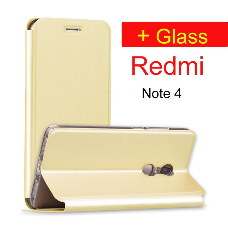 Xiaomi redmi note 4 case glass tempered 64gb Redmi note4 flip cover leather case Xiomi redmi note 4 pro prime redmi note 4 case