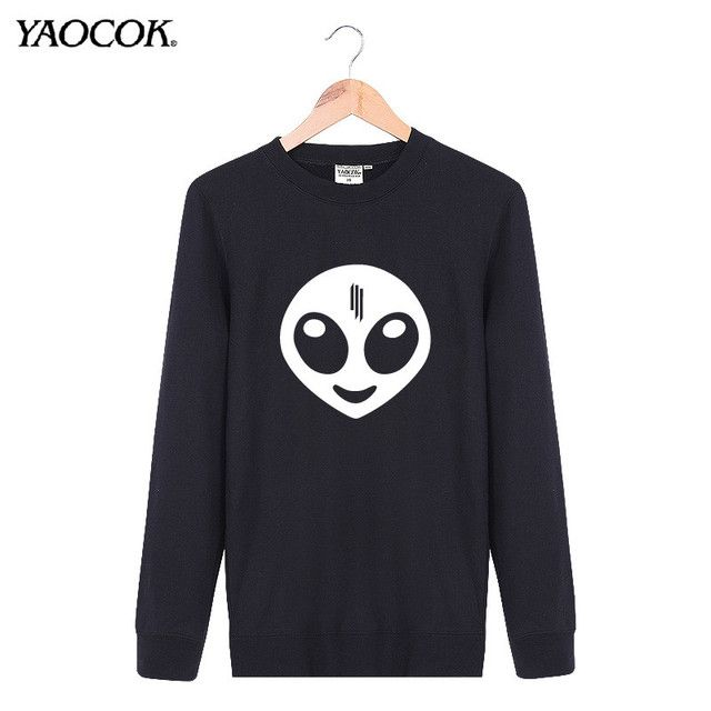 New 2016 Fashion Autumn Ourdoor Casual Crewneck Pullover Streetwear Hip Hop Cool Skrillex Punk Rock Band Sweatshirt Men Brand