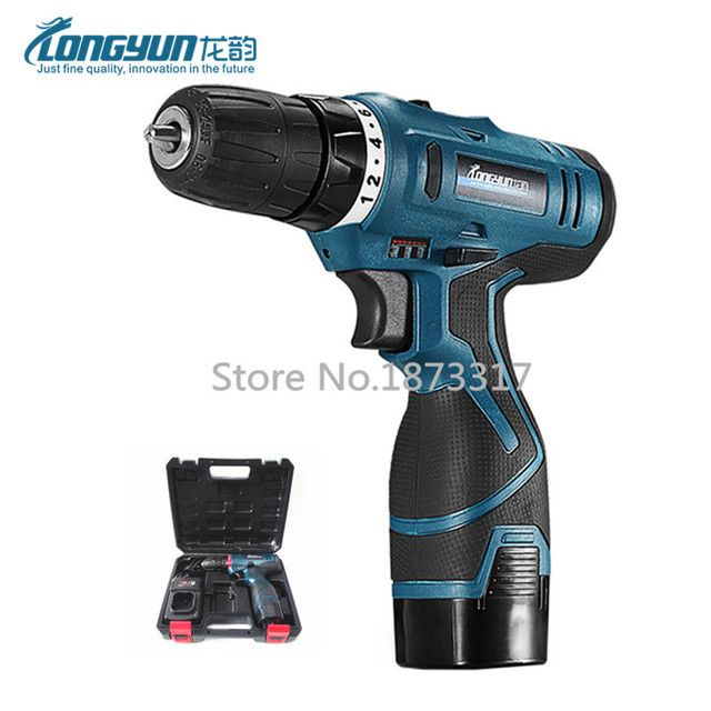16.8V Cordless Screwdriver Rechargeable Lithium Battery Parafusadeira Furadeira Double Speed Electric screwdriver Power Tools