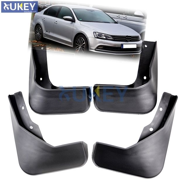 For Volkswagen VW Jetta Sedan 2015 2016 2017 Mudflaps Splash Guards Front Rear Mud Flap Mudguards Fender Set Molded Mud Flaps