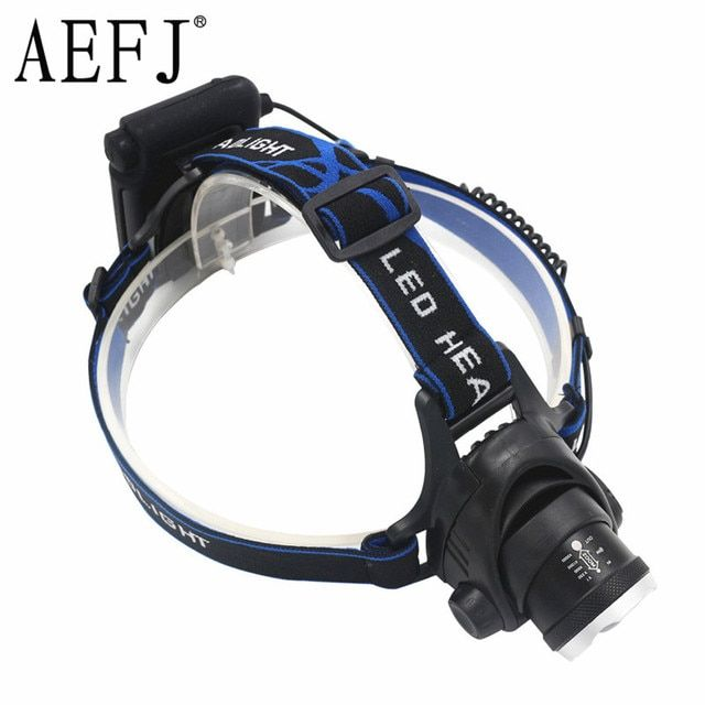XML T6 3800LM Waterproof Zoom LED AA Headlight Headlamp Head Lamp Light Zoomable Adjust Focus For Bicycle Camping Hiking