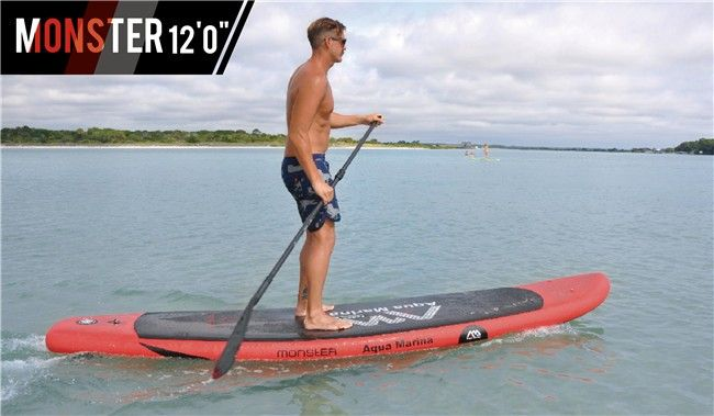 Monster Inflatable SUP / Stand up Paddle Board / iSUP / Inflatable Paddle Board / Big paddler / (3.65m/12')