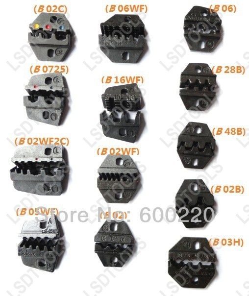 replaceable crimping dies can be use for DN HS L series crimping tools mini crimping die sets jaws