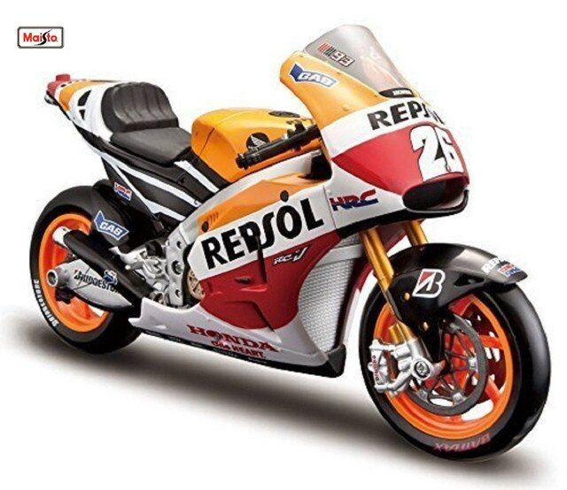 MAISTO 1:10 Honda Repsol RC213V DANI PEDROSA NO 26 MOTORCYCLE BIKE DIECAST MODEL TOY NEW IN BOX