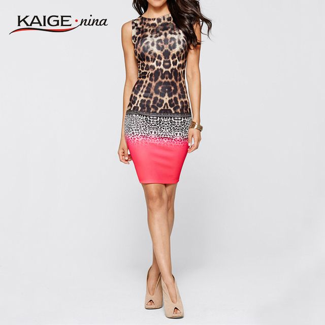 Kaige.Nina Hot Sale Dress Women Summer dress Bodycon Knitted Dress comfort Printed Vestidos Casual clothing vintage 2288