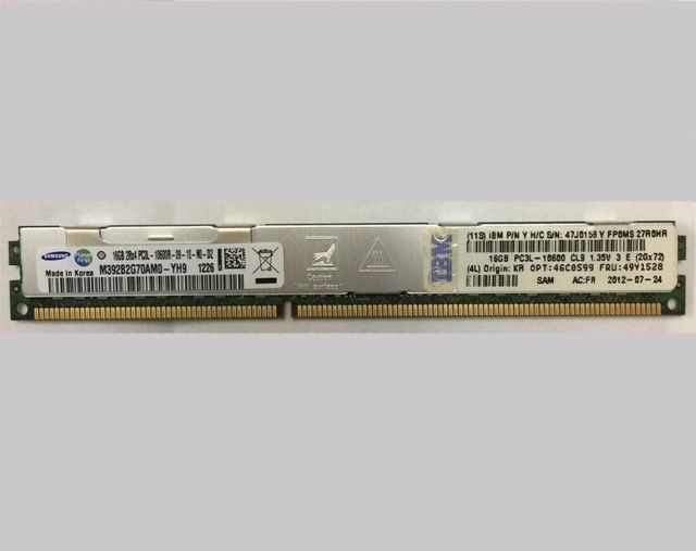 original HS22 HS22V HS23 HX5 46C0599 47J0158 49Y1528 16GB FOR IBM