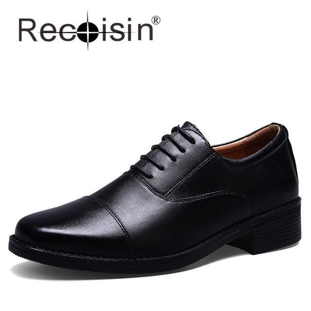 RECOISIN Full Grain Leather Dress Shoes Oxfords Classic Style Oxfords Forces Men Black Oxfords Formal Shoes Moccasins 8813
