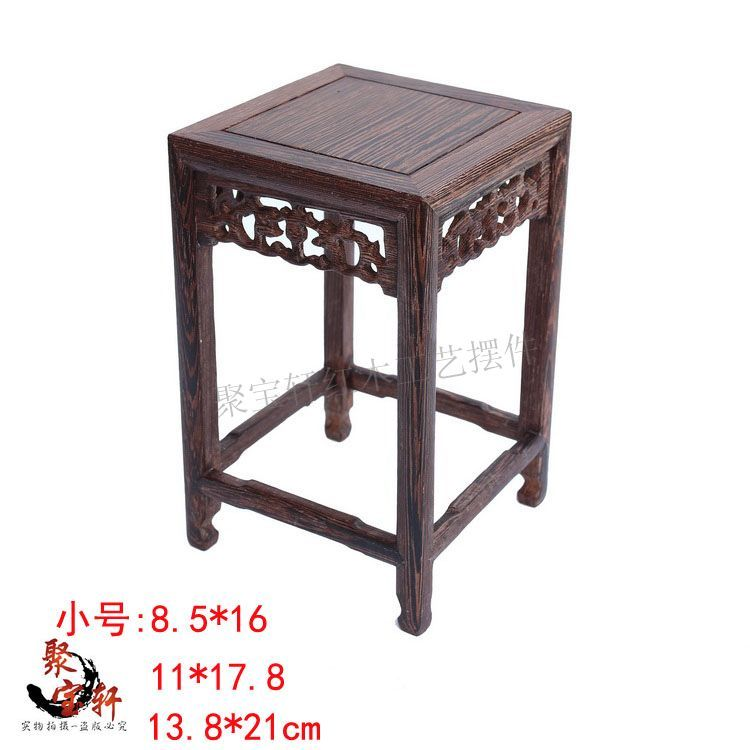 Wood carving household act the role ofing is tasted square vase flowerpot aquarium handicraft furnishing articles base