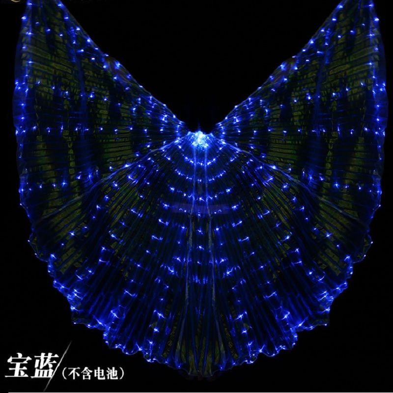 Stage Performance LED Light Bellydance Wing Glowing Dance Wings Props Belly Dance Cloak Women Fashion Bellydance 7 Colors